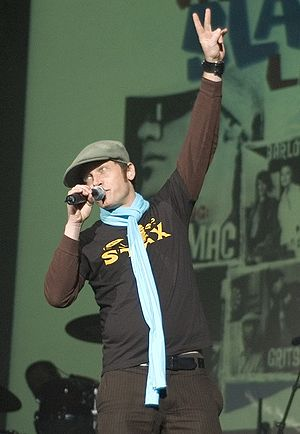 Christian singer TobyMac performing at his ann...